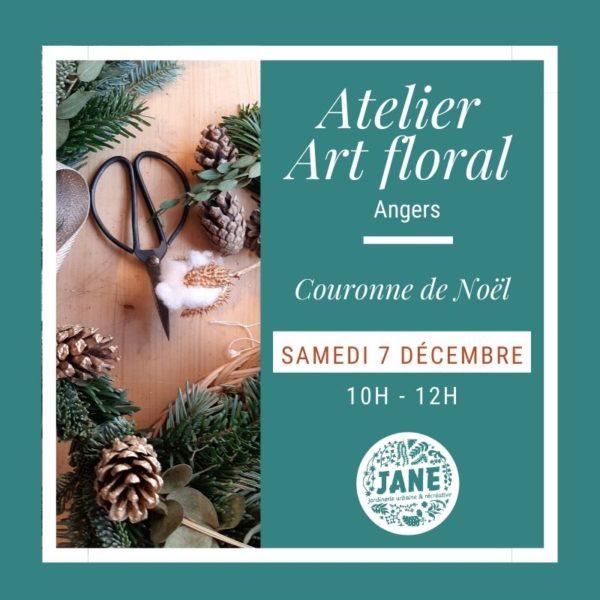 Atelier couronne de Noël Angers décembre