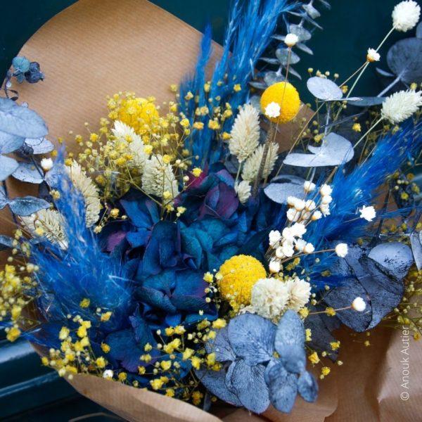bouquet Anouk Autier bleu jaune